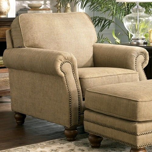 Ashley Furniture Clock | Ashley Furniture Prelude   Champagne Classic  Upholstered Arm Chair .