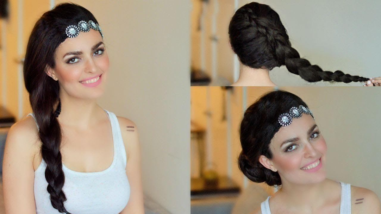 Dutch Braid جدولة جانبية ضفيرة To Bun Women Accessories Women Fashion