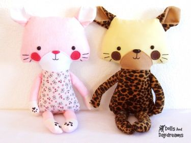 Cat and Leopard by Dolls and Daydreams