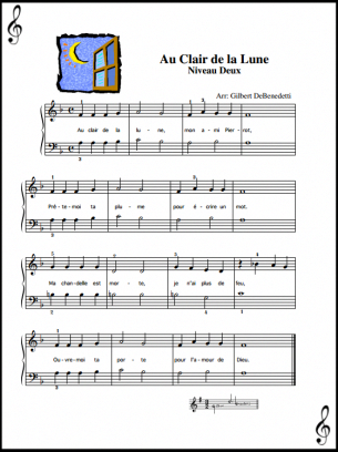 Au Clair De La Lune Piano Sheet Pianoclasses Piano Learning