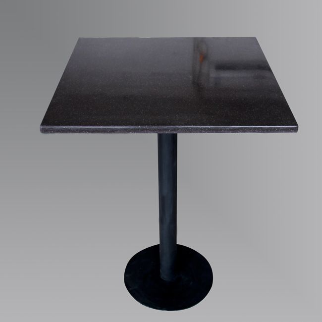 Nice Freestanding Black Square Bistro Table With Artificial Stone Top TW MATB 050