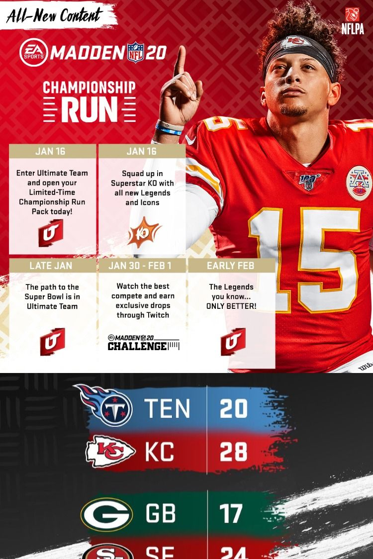 See Below For Our Predictions Of The Madden 20 Nfl For The Afc And Nfc Championship Game In 2020 Nfc Championship Game Nfl Nfc