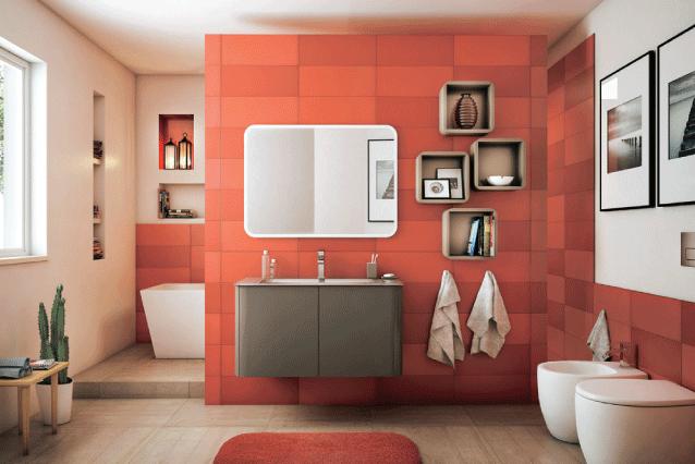 Bagno dai toni caldi progetta il tuo bagno pinterest for Progetta il tuo bagno