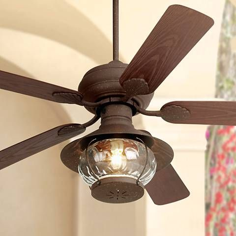 Rustic Indoor Outdoor Ceiling Fan