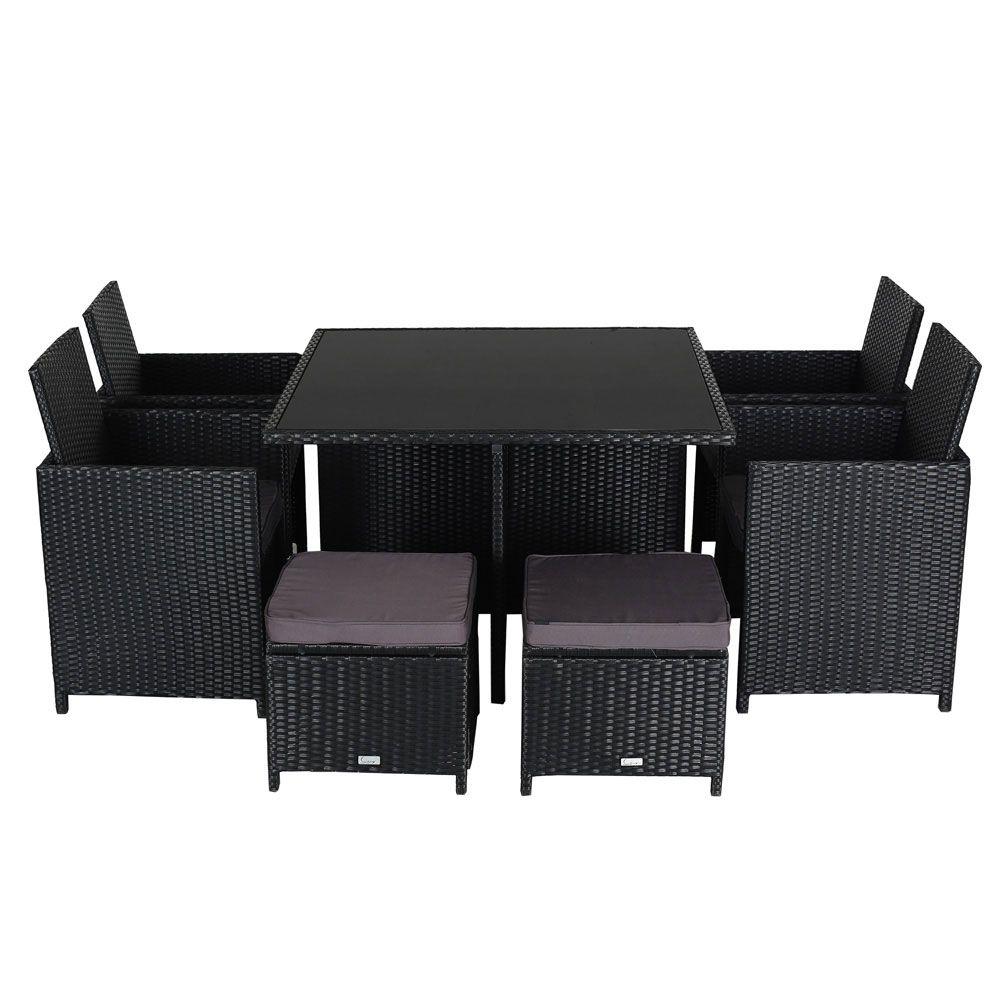 Luxo 'Polaris' 9pc PE Wicker Outdoor Lounge Setting ... on Luxo Living Outdoor id=66348
