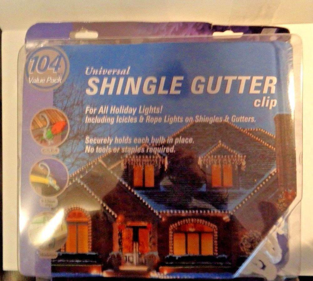 Universal Shingle Gutter Clips For Hanging Christmas Lights Icicles Large Pack Hanging Christmas Lights Gutter Clips Christmas Lights