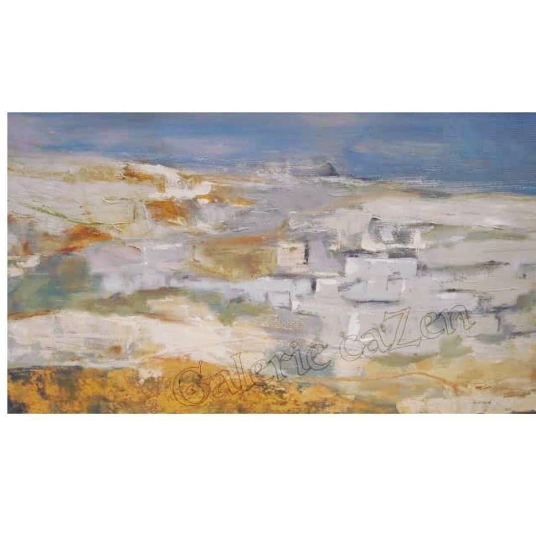 Paysage Tunisien Par Elisabeth Gavard Artiste Peintre Plasticienne