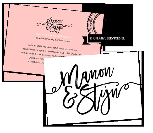 mooi trouwkaartje handgeschreven