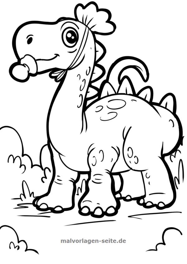 Malvorlage Dinosaurier | Malvorlage dinosaurier, Dinosaurier ...
