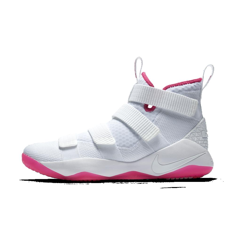 buy popular 7b772 cfec8 Nike LeBron Soldier XI Kay Yow Men s Basketball Shoe Size 12.5 (White)