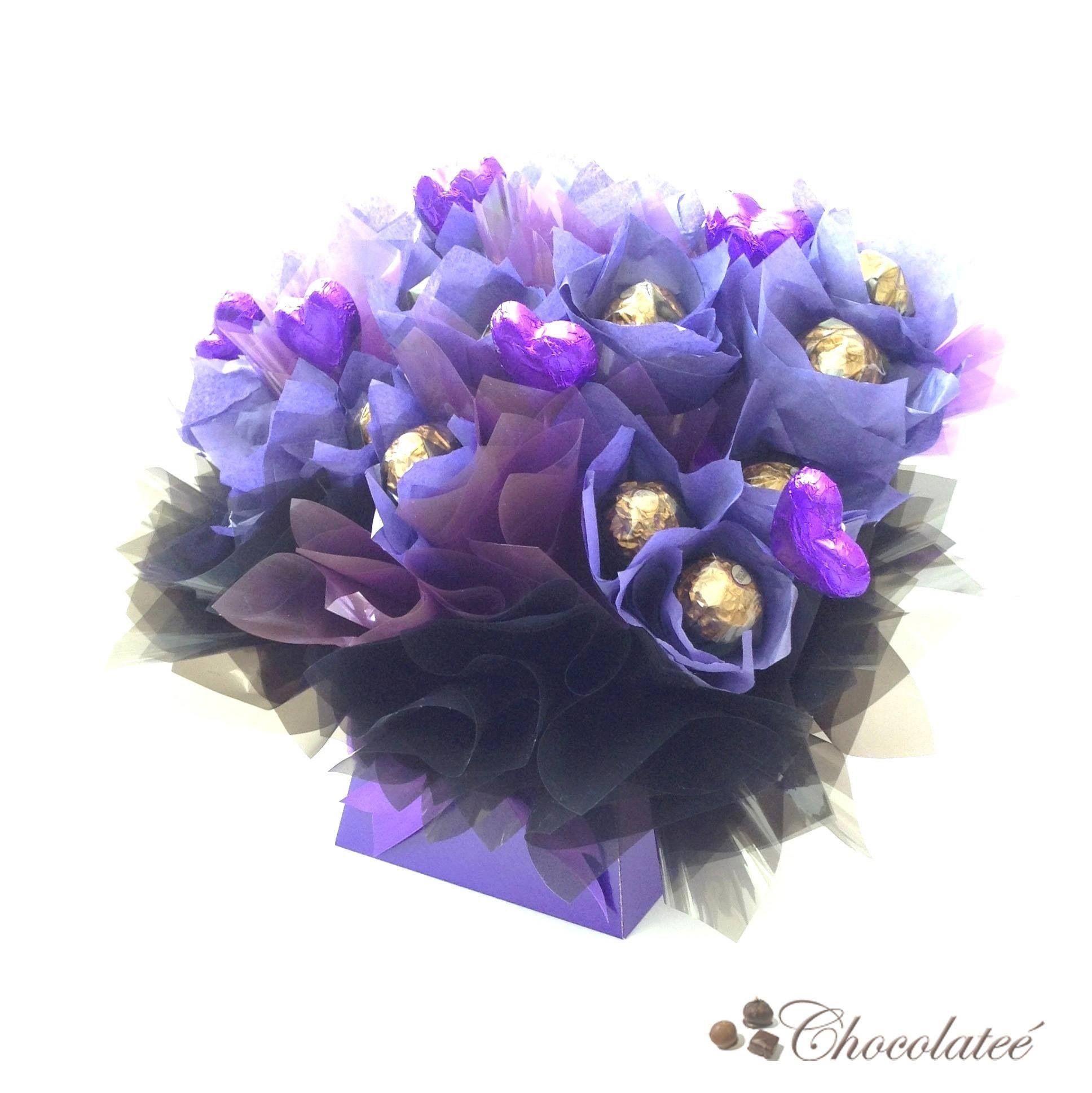 Purple passion luxury ferrero rocher bouquet httpchocolatee purple passion luxury ferrero rocher bouquet httpchocolatee izmirmasajfo Images