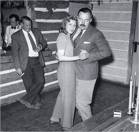 Martha Gellhorn and Ernest Hemingway in Sun Valley, Idaho ...