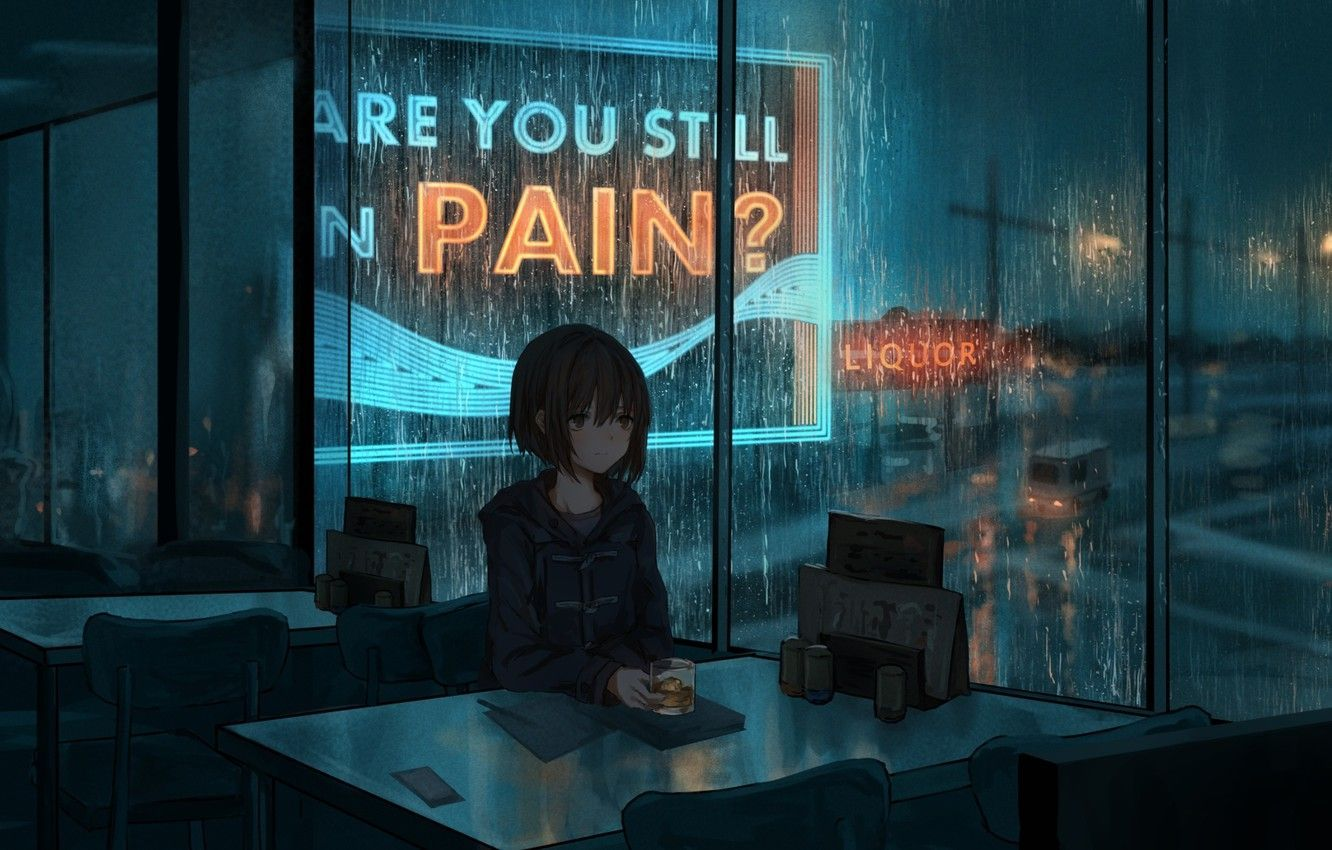 Cafe Anime Wallpapers Top Free Cafe Anime Backgrounds Wallpaperaccess Relaxing Music Sleep Sound Of Rain Relaxing Music