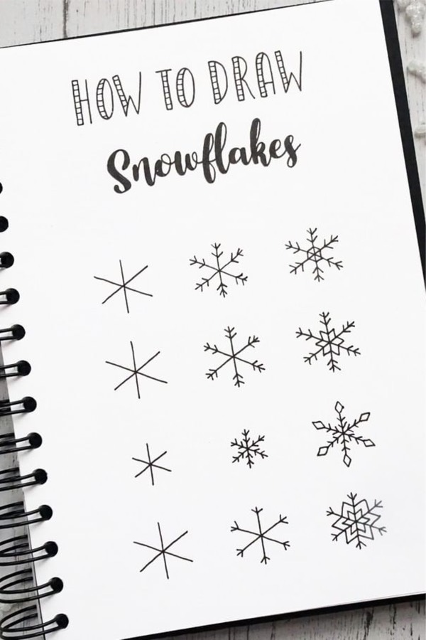 Best Bullet Journal Christmas Doodle Ideas For 2019 - Crazy Laura - Stricken ist...,  #Bullet...