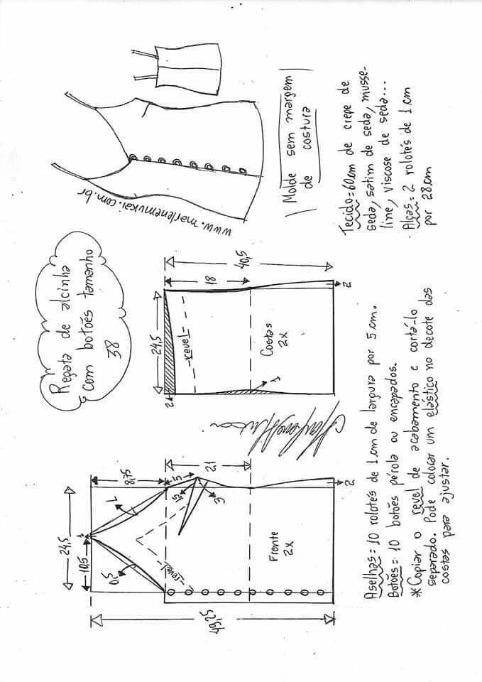 Pin de Yo en Patrones | Costura, Patrones de costura y Costura facil