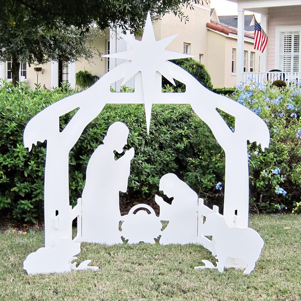 Teak Isle Christmas Outdoor Nativity Set Products Outdoor