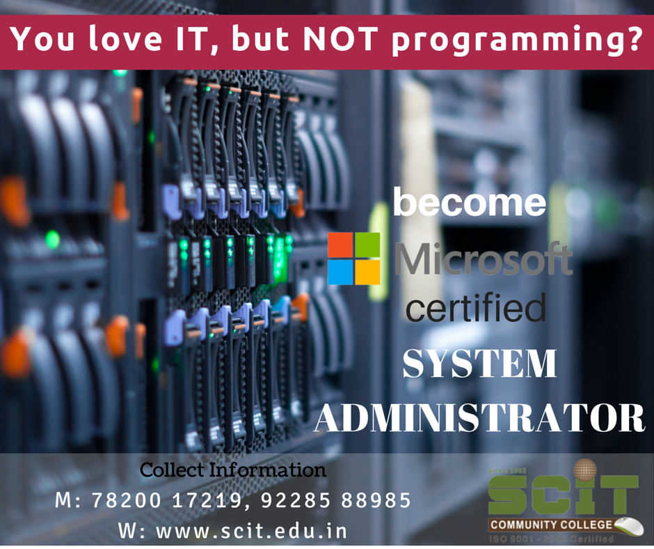 Admission Now Open For Microsoft Certified System Administrator