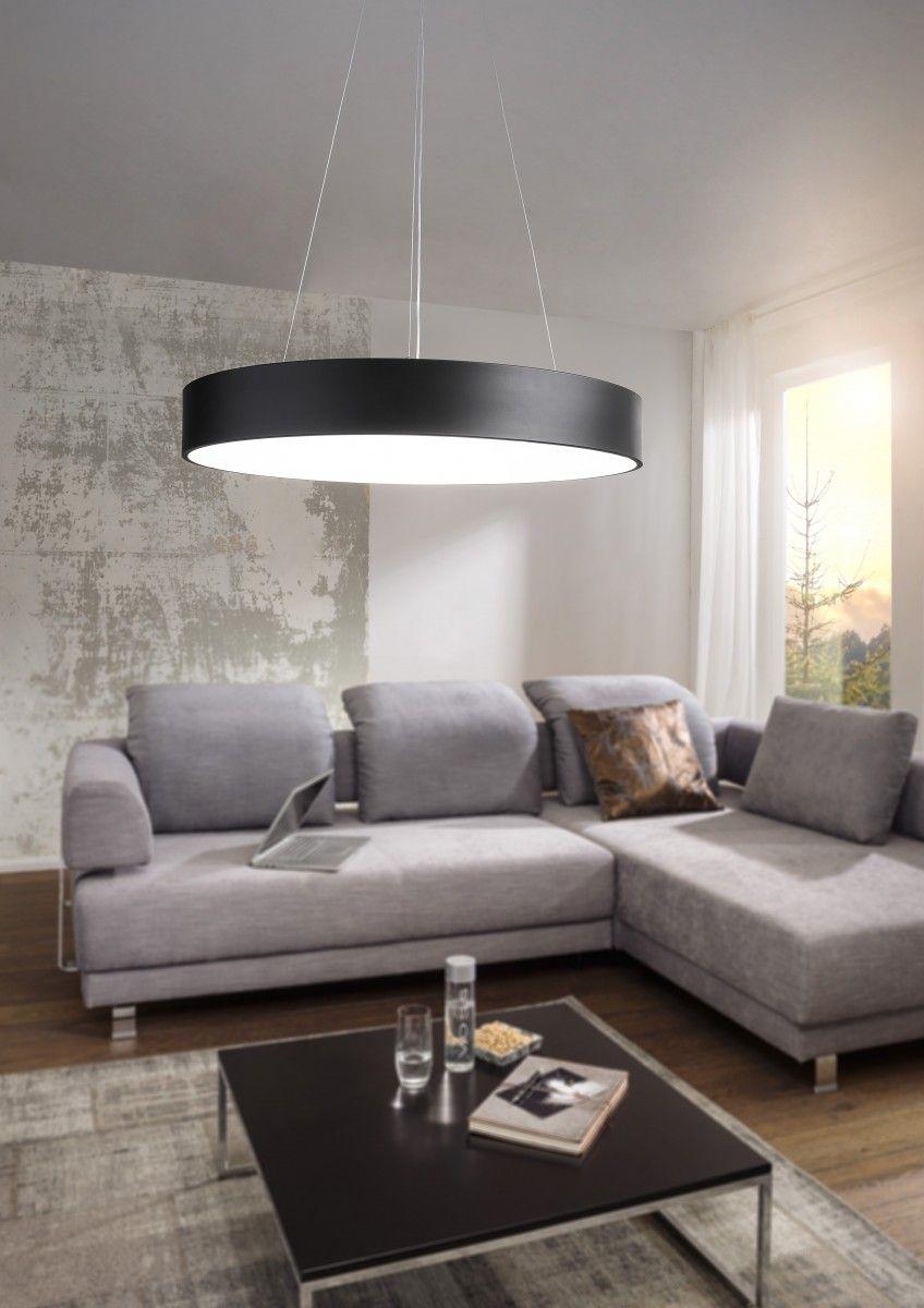 Wohnling Deckenleuchte Round schwarz WL3.095 aus Metall