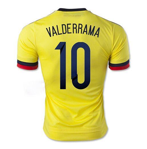 Maillot de foot Colombie Domicile 2015/2016 (10 Walderrama) Joune