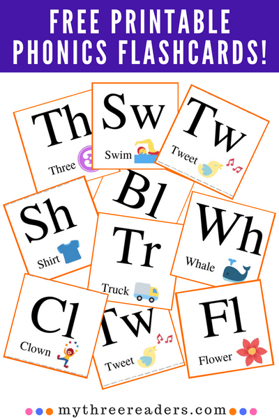 Free Printable Flashcards With Pictures – 25 Consonant Blends For Readers!