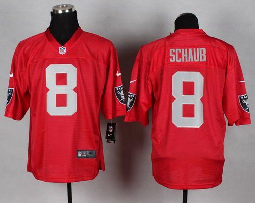 Nike Oakland Raiders  8 Matt Schaub 2014 QB Red Elite Jersey  adbce11dd