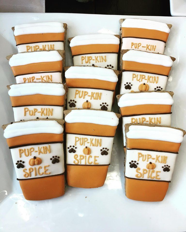 Need your pumkin spice fix stop by woof gang bakery the