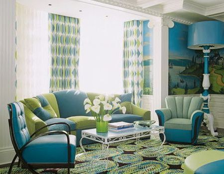 Turquoise And Green Color Schemes Ideas Blue And Green Living Room Living Room Turquoise Turquoise Room