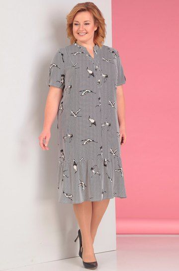 Платье Альгранда, черно-белая полоска (модель 2957) — Белорусский трикотаж в интернет-магазине «Швейная традиция» #schnittmusterzumkleidernähen
