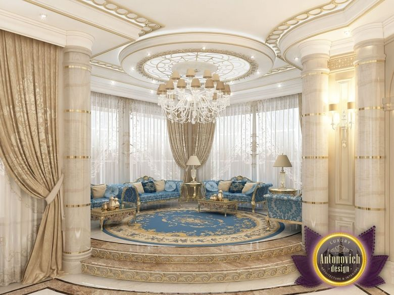 Villa interior design in dubai saudi arabia madina for Villa interior design living room