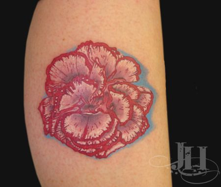 Top red carnation flower tattoo images for pinterest tattoos for Red carnation tattoo