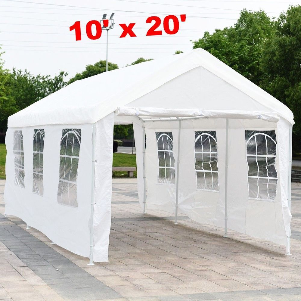 Car Canopy Tent Heavy Duty Garage Carport Outdoor Shade Rain Shed Portable 10x20 Carcanopytent Car Canopy Tent Outdoor Shade Car Canopy