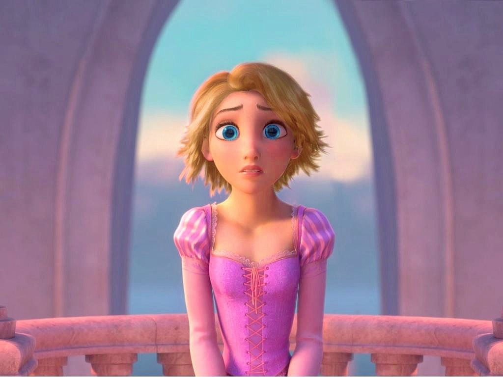 Rapunzel With Short Blonde Hair Enredados Pelis