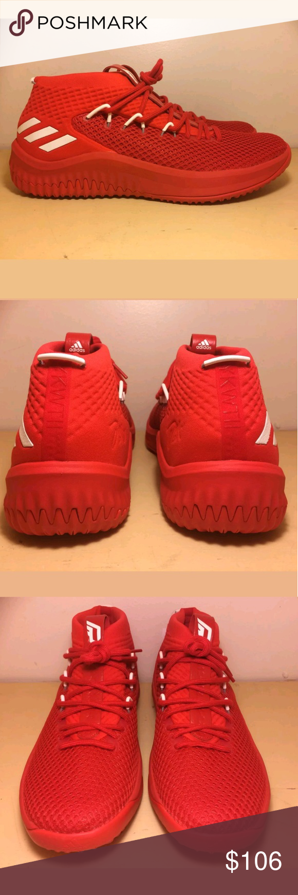 size 40 30975 8c0c2 Adidas Dame 4 red basketball shoes This item is a brand new pair of mens  Adidas
