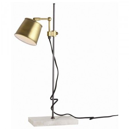 Brass & Marble Desk Lamp - Furbish