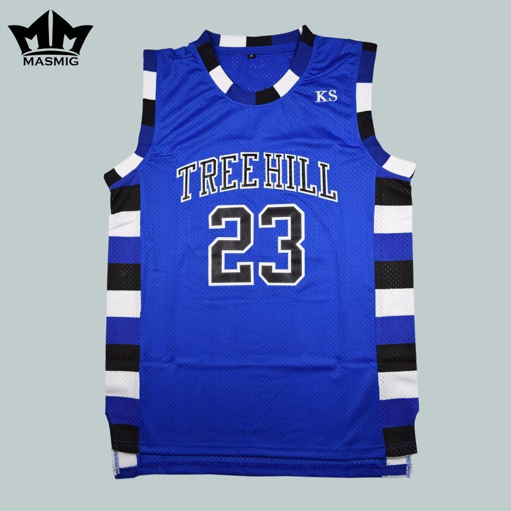 Cheap Film Throwback Basketball Jerseys Nathan Scott 23 One Tree Hill Ravens