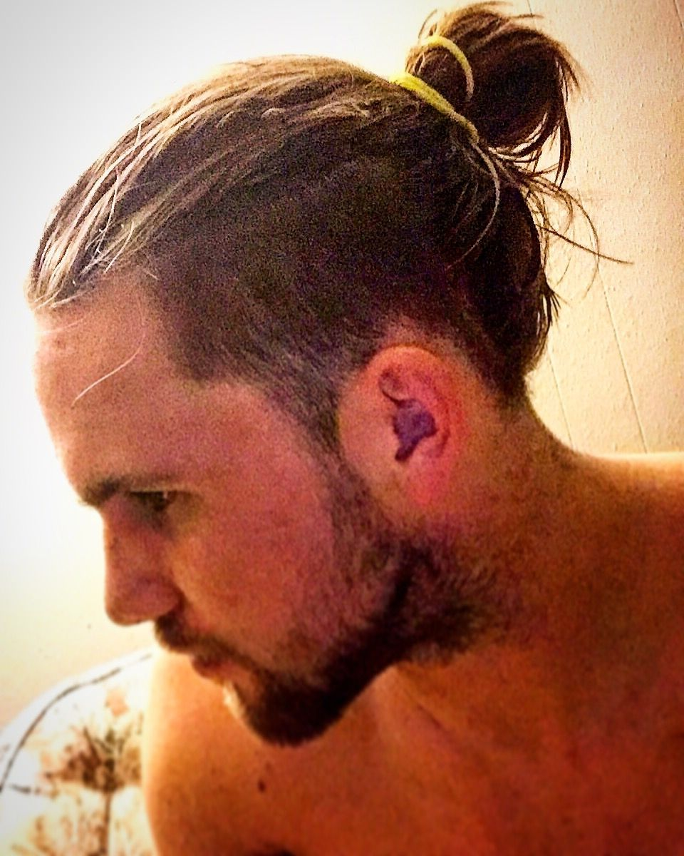 New Man Bun Hairstyle Trend The Low Undercut Man Bun Hairstyle