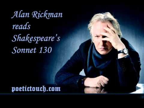 William Shakespeare Sonnet 130 Alan Rickman Alway Movies All The World A Stage Paraphrase