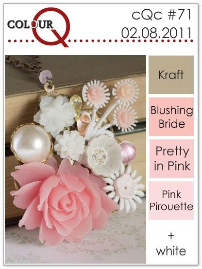 Good morning and welcome to colourQ Challenge #71! We have a lovely selection of pinks for your crafting pleasure this week! I was inspired...