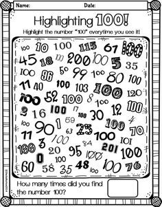 Worksheets 100 Days Of School Worksheets 100th day of school and worksheets on pinterest