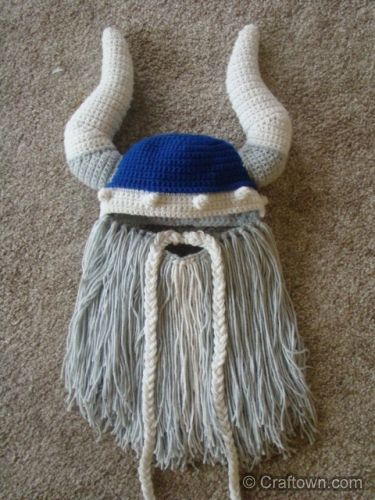 Free Crochet Pattern Viking Beard Hat Adult Childrens