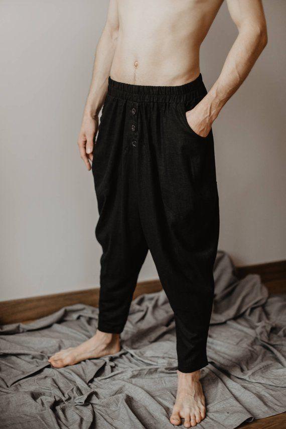 Hippie Pantalon Éléphant Boho islamique vintage Danse Yoga Pantalon Corde Gypsy Baggy