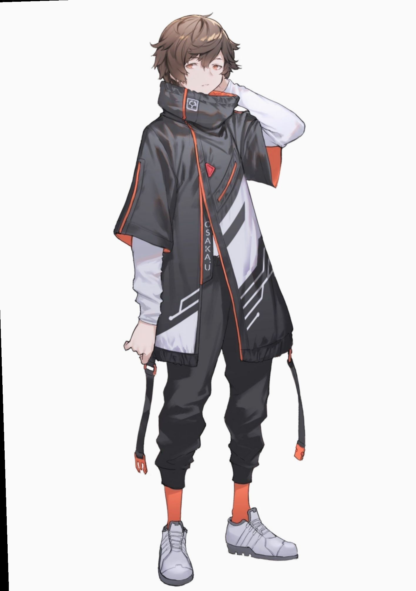Anime Boy Clothes : anime, clothes, Anime, Outfits, Badass, #animeoutfits, Source, Ph…, Character, Design,, Design, Inspiration,, Cyberpunk