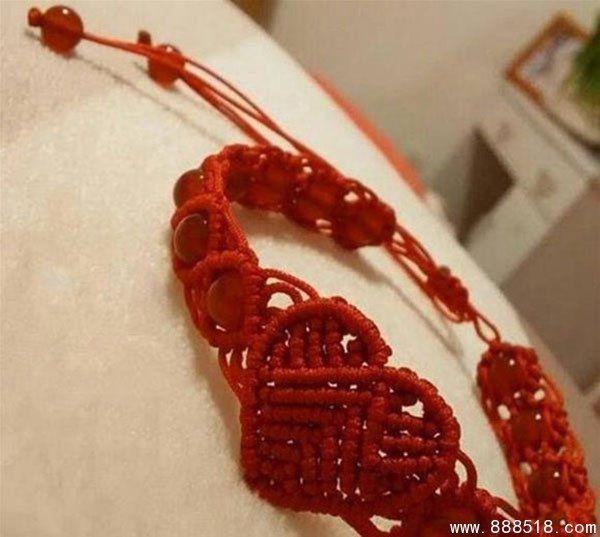 创意手工DIY编织爱心红绳的编织教程图解-易控学院