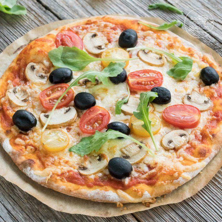 Schneller Pizzateig ohne Hefe #pizzateig