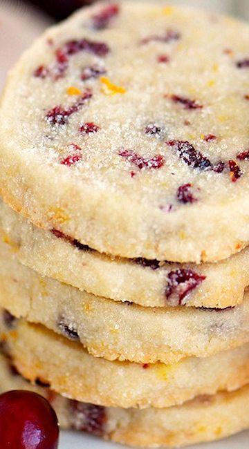 Cranberry Orange Shortbread Cookies Scrumptious Desserts And