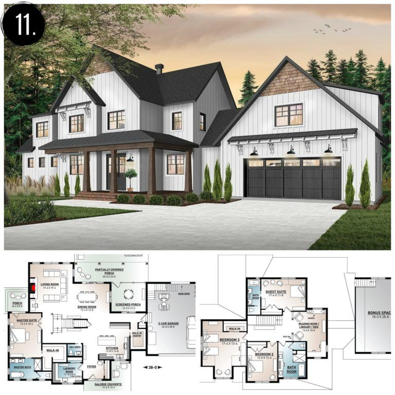 10 Amazing Modern Farmhouse Floor Plans Rooms For Rent Blog Modern Farmhouse Floorplan Farmhouse Floor Plans Modern Farmhouse Plans