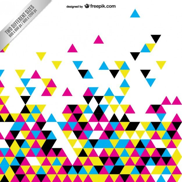 Download Cmyk Abstract Background With Colorful Triangles For Free