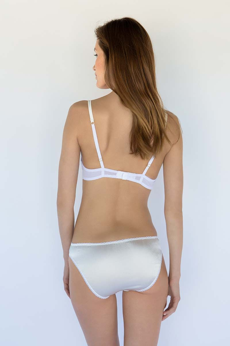 Show details for Fully Padded Super Plunge With Raised Lace Bra
