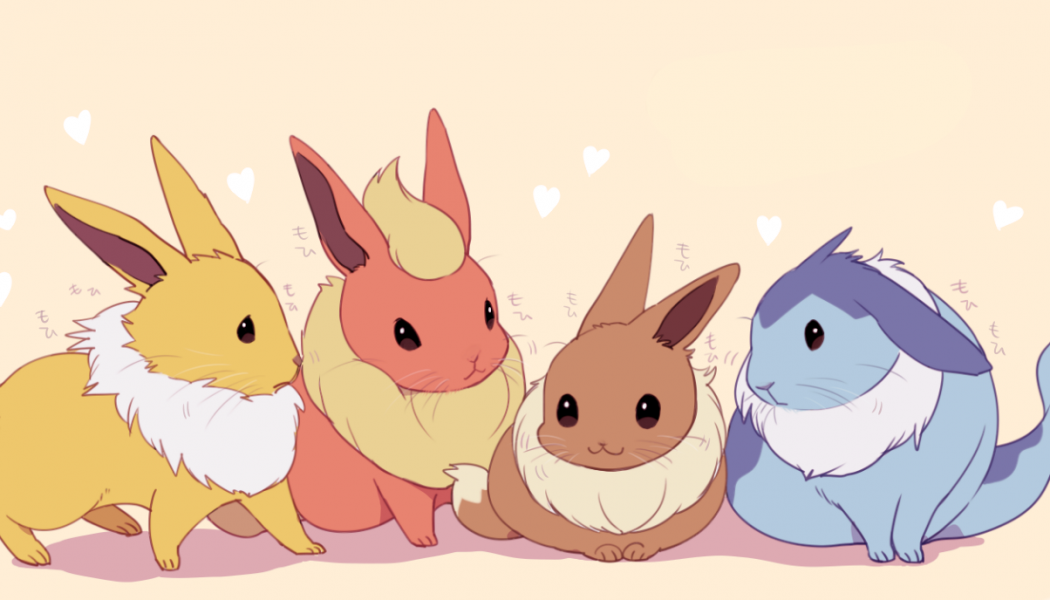Here are some very cute eevees evolutions as if they were real life bunny cuties.