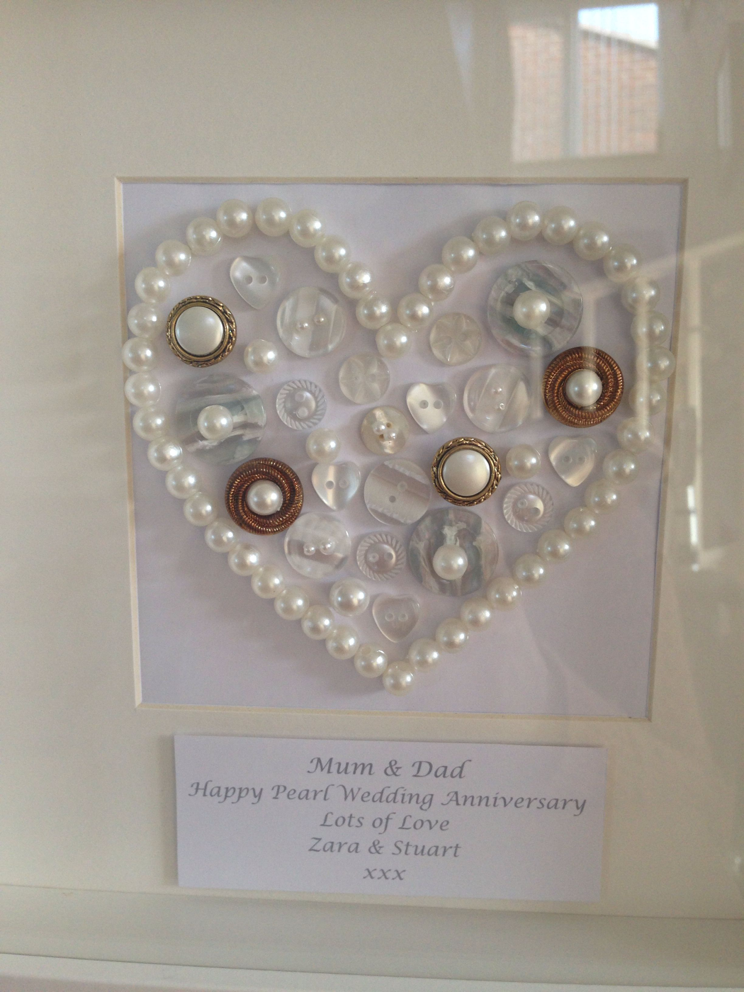 Ideas For Pearl Wedding Anniversary Gifts: Pearl Wedding Anniversary Handmade Gift